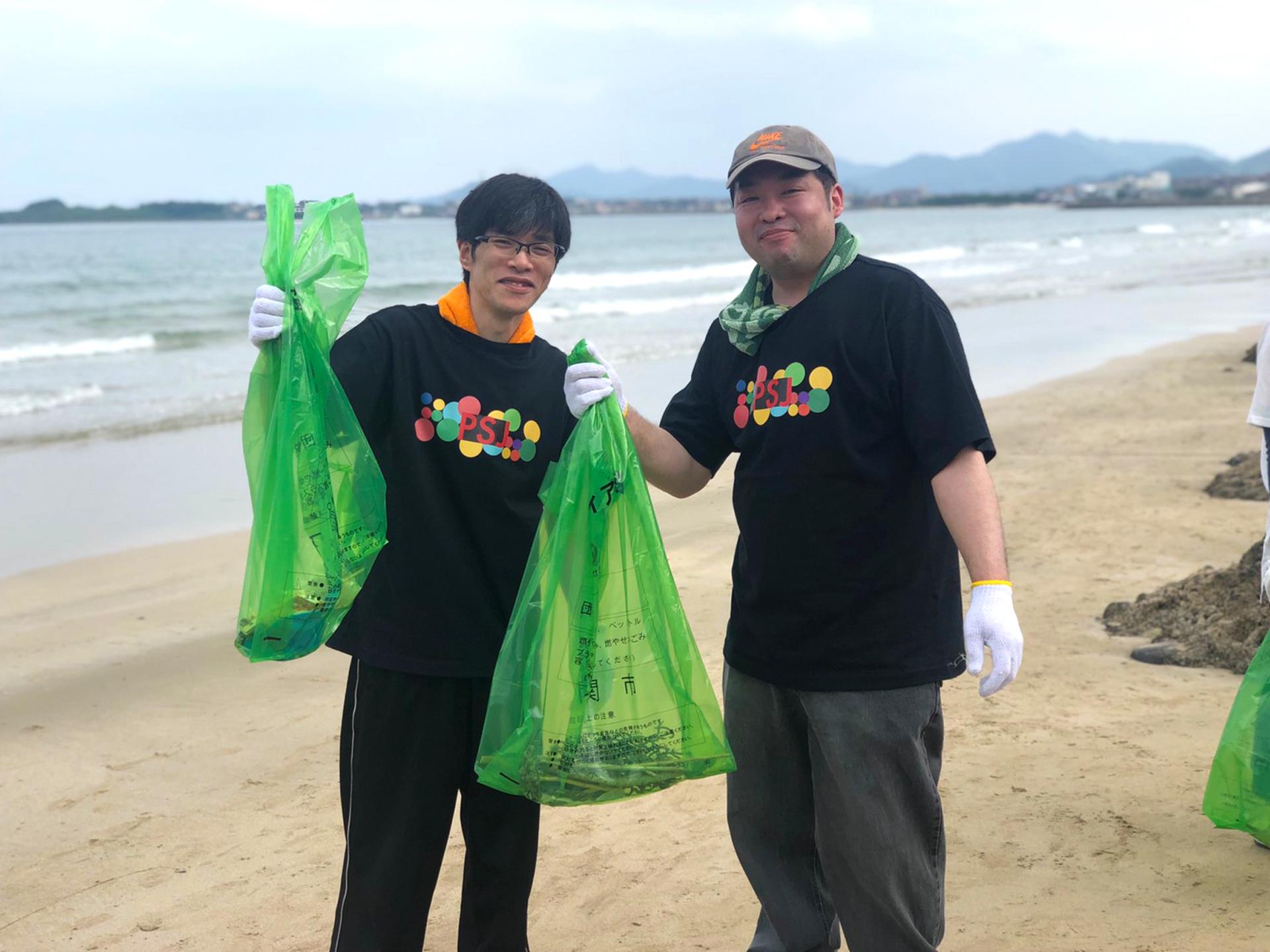 日韓海峡海岸 漂着ごみ一斉清掃