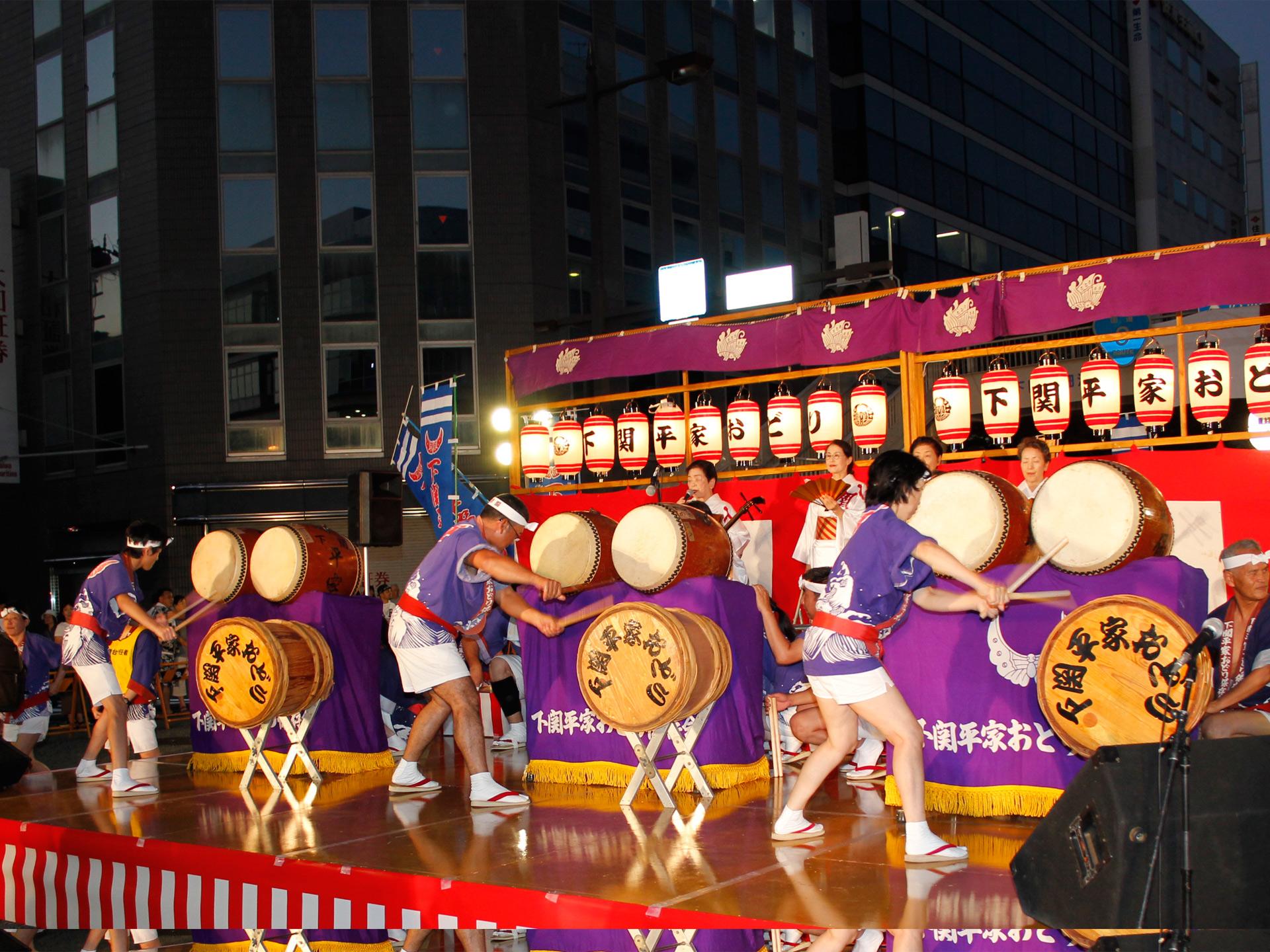 下関市の夏のフィナーレ「馬関まつり」